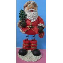 Papai Noel Em Resina Com Molas Nas Pernas - A84