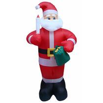 Nflável Papai Noel Em Pé Decoração De Natal - 1,80 Mts.