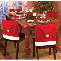 Capa Para Cadeira - Chapéu Vermelho Papai Noel - Novo