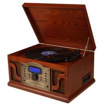 Toca-discos Retro Lakewood Com Rádio Am/fm Cd Mp3 Fita K7 E