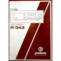 Manual Original Gradiente R343 Receiver