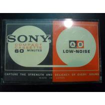 Fita K7 Virgem Sony Exclusivíssima Made In Japan Década 60