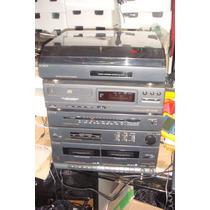 Som Sony Lbt-32w + Cd Player + Toca Discos + 2 Caixas