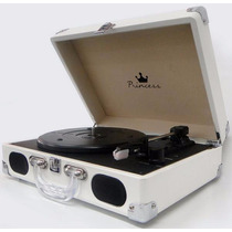 Pickup Turntable Princess P/ Vinil No Case / Modelo De Luxo