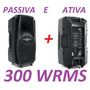 Kit Caixa De Som Frahm Ps10 A Ativa Bluetooth + Passiva 300w