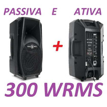 Kit Caixa De Som Frahm Ps10 A Ativa Bluetooth + Passiva 300w