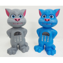 Caixa De Som Gato Tom Gravador De Voz Sensor Toque Fm Usb Sd