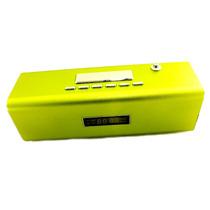Caixa De Som Tt2 Multimedia Speaker Usb Micro Sd Verde A6903