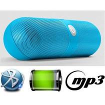 Mini Caixa De Som Portatil Bluetooth Sd Beats Pill C/ Leds