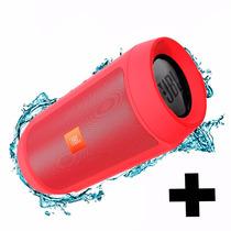 Caixa Som Charge 2 Plus Jbl Vermelho Recarregável Bluetooth