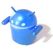 Caixa De Som Portátil Estilo Boneco Do Android Azul