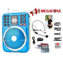Amplificador Megafone Microfone Kit Completo Para Professor