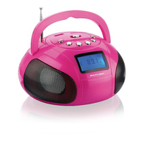 Caixa De Som Mini Boom Box 10wrms Usb,sd,aux Fm Rosa - Sp146