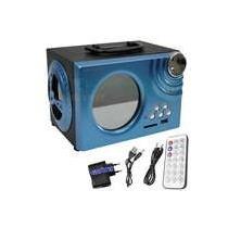 Caixa De Som Portátil Radio Fm Mp3 Xr-10a 6w Rms Hi-fi Azul