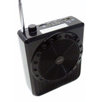Caixa Som Microfone Rádio Mp3 Usb Cartão Sd Aulas Palestras