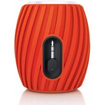 Mini Caixa De Som Speaker Philips Sba-3011 Usb - Laranja