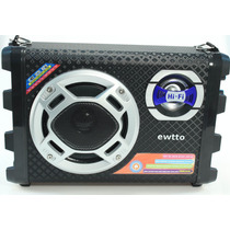 Caixa De Som Amplificada Recarregável Karaoke Mic Usb Hifi