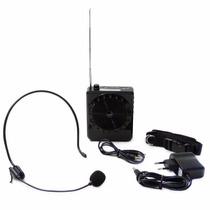 Kit Professor Microfone Amplificado Caixa De Som Mp3 Sd Pen