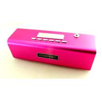 Caixa De Som Tt2 Multimedia Speaker Usb Micro Sd Rosa A6901