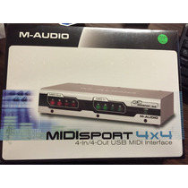 Placa Interface M Audio Midi Midisport 4x4 Usb