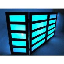 Frontboard 5 Partes Dj Treliça Cdj Technics Moving Led Laser