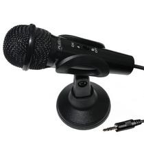 Microfone De Mesa C/ Tripé P2 Portátil Pro P/ Pc Tv Notebook