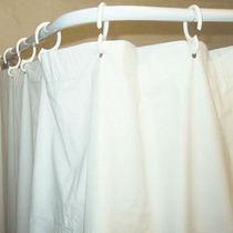 Porta Curtina Curvo Box+kit Acessórios P/ Banheiro Aço 5 Pç