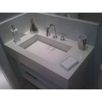 Lavatório Em Branco Prime Melhor Que Porcelanato E Mármore