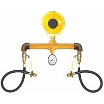 Kit Cavalete C/ Manômetro P/ Instalação 02 Botijões P45 Glp-