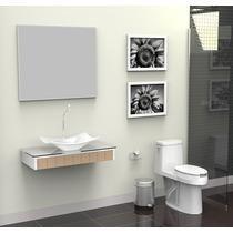 Gabinete / Lavabo Banheiro Madri 80