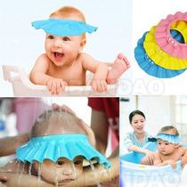 Chapéu / Viseria Protetora De Banho Para Bebê Frete Grátis
