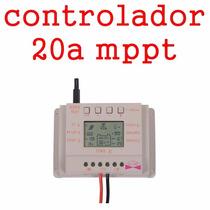 Controladror De Carga Para Painel Solar 20a Mppt 12e24v