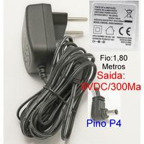 Fonte 9v300ma Base E Ou Ramal Telefone S/ Fio Vtech-motorola