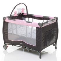 Berço Portátil Toybar, Para Bebês Crianças,rosa Com Ursinhos