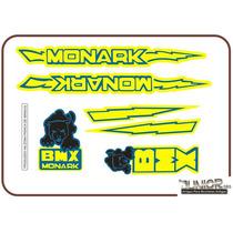 Adesivo Para Antiga Bmx Pantera Amarela E Azul - Frete Grát