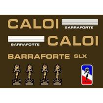 Adesivo Para Caloi Barra Forte Slx Branco/our - Frete Gratis