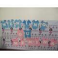 Varal De Roupinha Azul E Rosa 13 Letras Eva - Chá De Bebê