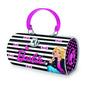 Bolsa Metálica Barbie Estojo Fashion Escolar Alça Barão Toys