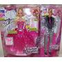 Barbie Moda E Magia 6 Bonecos Barbie Ken Alecia E 3 Fadas
