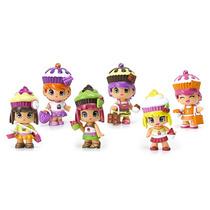Kit Mini Bonecas Pinypon Coleção Cupcake Personagens Famosa