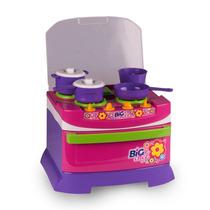 Mini Fogão Infantil Big Chef Com Acessórios 5542 - Poliplac