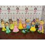 Turma Das Princesas Disney Em Eva 3d 23 Cm - Kit C/ 10