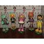 Turma Da Monster High Em Eva 3d 15 Cm - Kit C/ 5