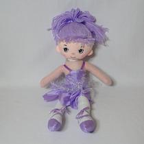 Bonecas De Pano Bailarina 40cm Lilás