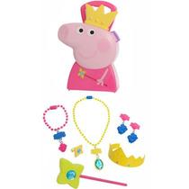 Brinquedo Menina Peppa Pig Maleta Joias Acessorios Multikids