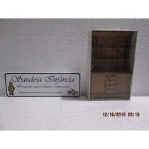 Miniatura Estante Madeira Escala 1/12 Casinha Bonecas