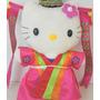 Boneca Hello Kitty De Pelúcia Com Trajes Coreanos - Raridade