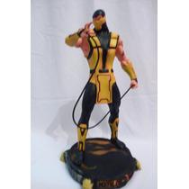Boneco Scorpion Mortal Kombat - Estátua Em Resina