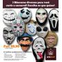 Escolha As 3 Máscaras Que Quiser! Halloween Fantasia Cosplay