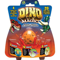 Ovo Mágico Dtc Dino Magic Bonecos De Dinossauro - C/ 16 Ovos